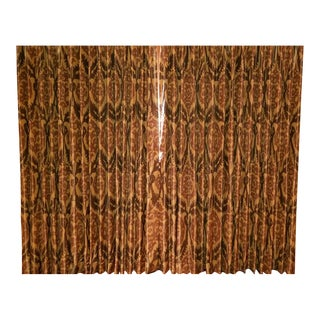 Silk Dupioni Lined Blackout Curtains - a Pair For Sale