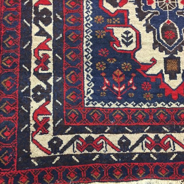 Hand Woven Afghan Rug - 3′11″ × 6′9″ - Image 3 of 6