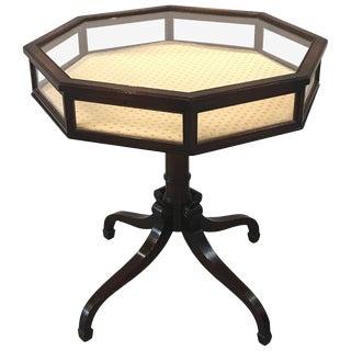 Edwardian Mahogany Octagonal Vitrine Table
