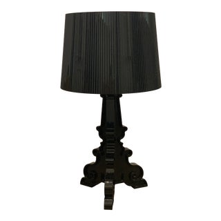 Kartell Bourgie Table Lamp Black With Shade For Sale