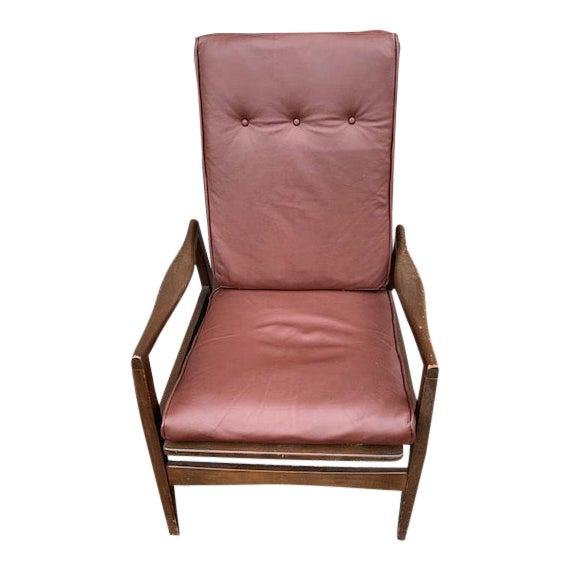 Mid Century Danish Modern Rocker Chair For Sale