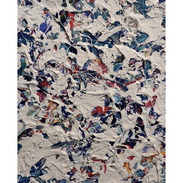 2000 - 2009 Ellie Riley Contemporary Abstract in White Acrylic Painting For Sale - Image 5 of 10