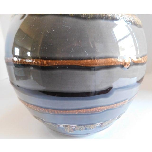 Fabulous Grey Striped Vintage Vase For Sale - Image 4 of 10