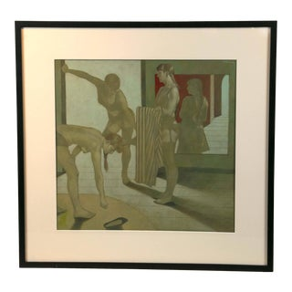 """""""Women at the Bath"""" Oil Painting on Board by Santamaria For Sale"""