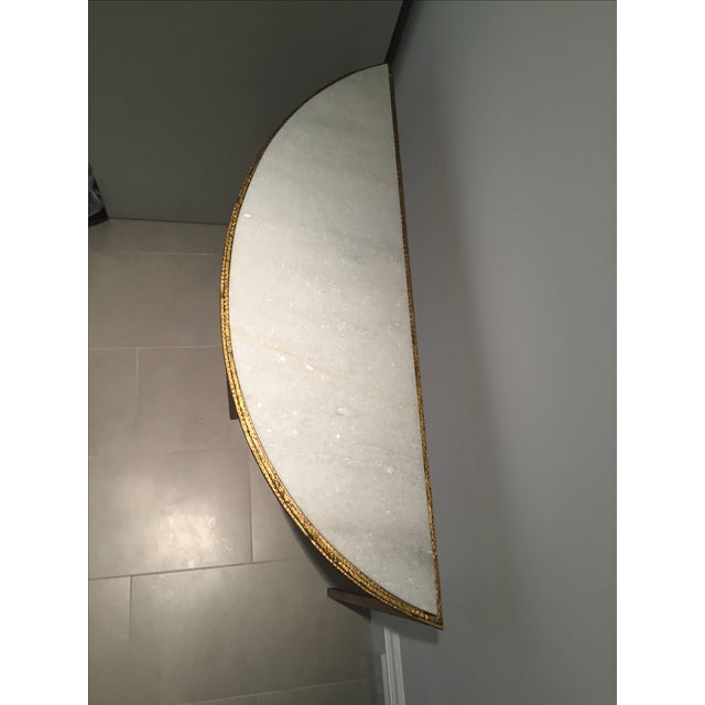 Marble & Gold Half-Circle Console - Image 5 of 5