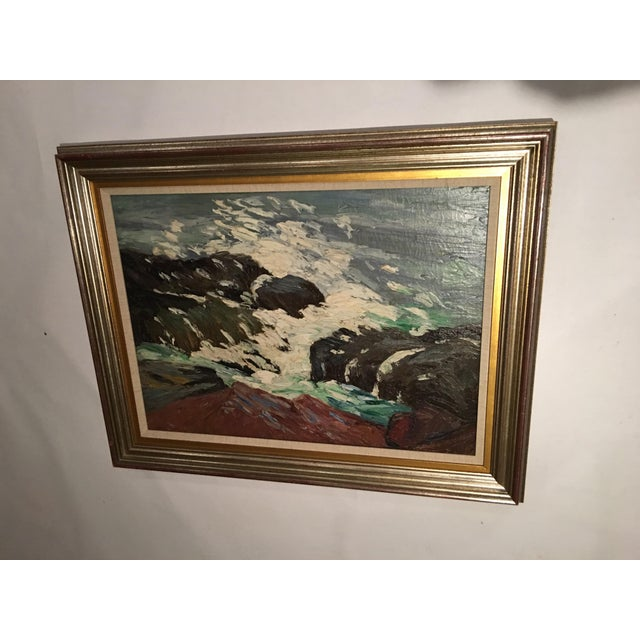 Framed Seascape Painting 'After the Blow' For Sale In New York - Image 6 of 8