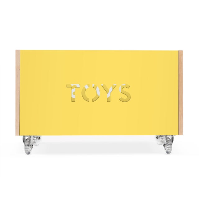 Wooden Toy Box Chest on Casters. A clean and modern design take on a classic piece, complete with non-locking casters. An...