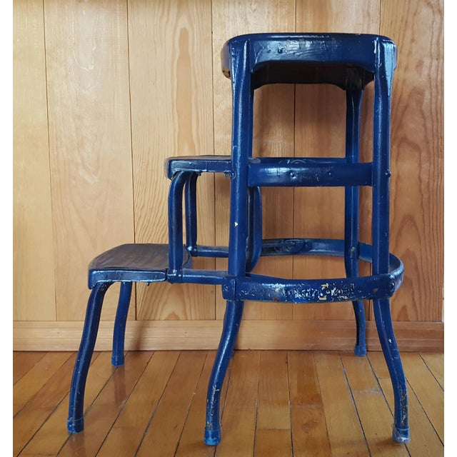 Vintage Metal Step Stool For Sale - Image 4 of 5