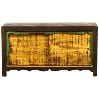 Save the Planet Reclaimed Wood Mongolian 2-Door Cabinet For Sale
