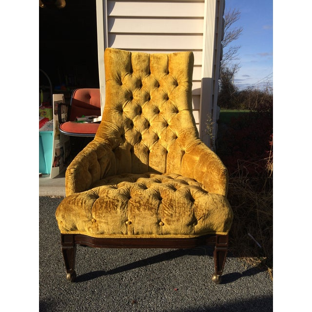 Mid-Century Tufted High Back Chair - Image 2 of 6