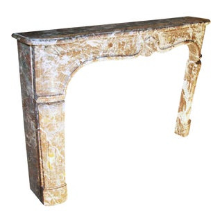 Early 18th Century French Louis XV Marble Mantel