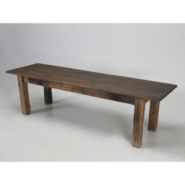Antique French Rustic Industrial Work Table For Sale - Image 11 of 11