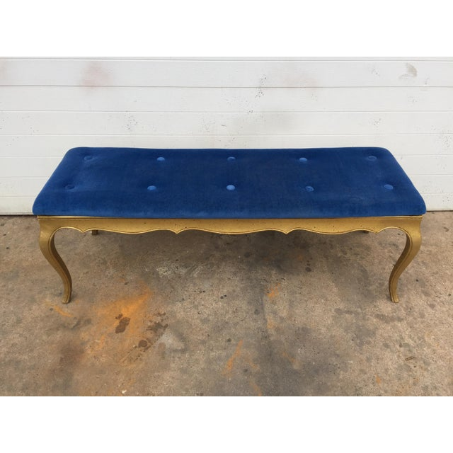 Hollywood Regency Style Gold Gilt Bench - Image 6 of 7