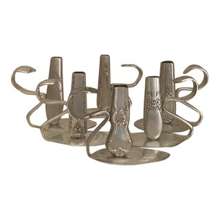 Silver Plate Bud Vases - Set of 6 For Sale