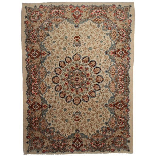 Hand Knotted Persian Kashar Rug - 10′3″ × 14′3″ For Sale