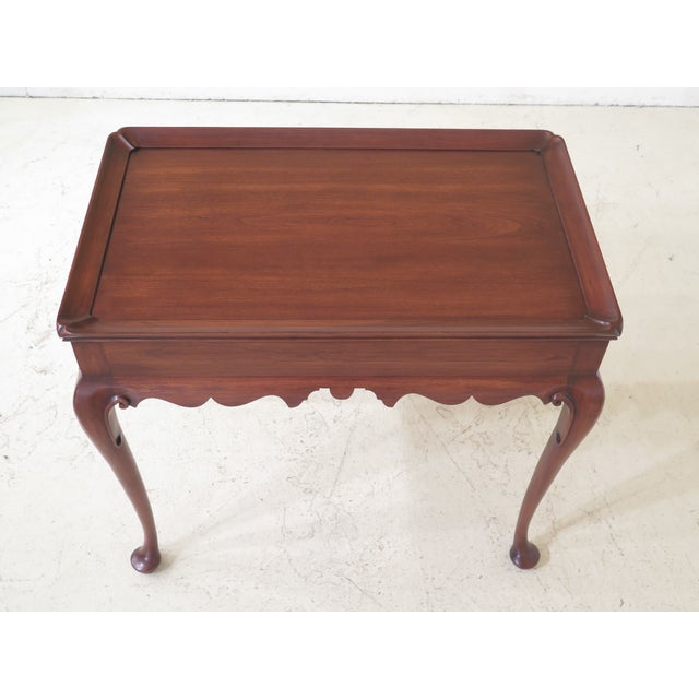 Henkel Harris Queen Anne Cherry Tea Table Age: Approx: 10 Years Old Details: #24 Finish High Quality Construction Queen...