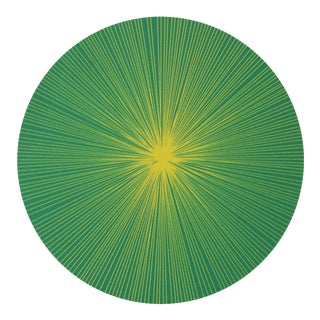Shadow Lines Placemat in Green + Chartreuse For Sale