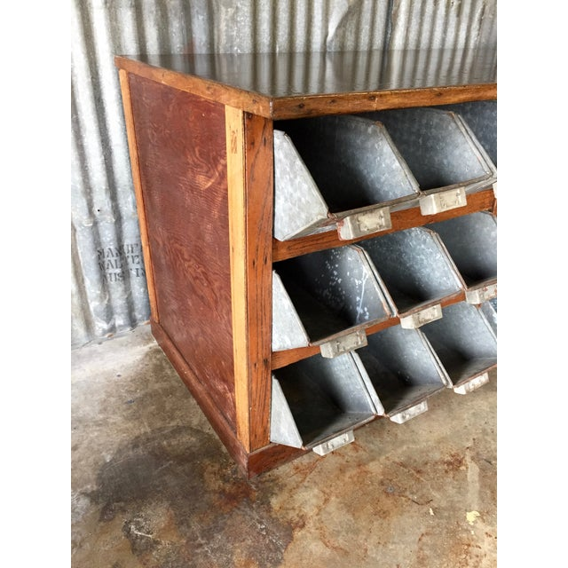 Antique 1940s Hardware Store Counter For Sale - Image 10 of 11