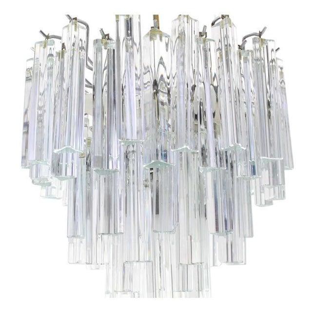 Camer Glass Medium Size Venini Glass Prisms Camer Light Fixture For Sale - Image 4 of 9