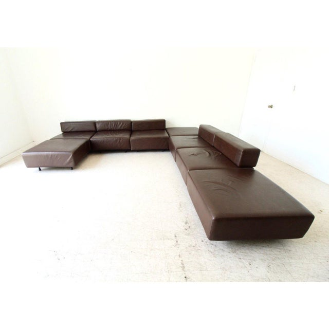 Leather Harvey Probber Leather Cubo Sectional Sofa For Sale - Image 7 of 7