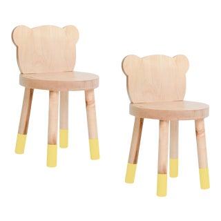 Nico & Yeye Baba Kids Chair Solid Maple Yellow - Set of 2 For Sale