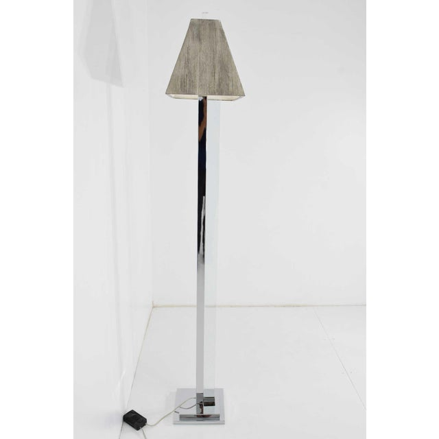 Contemporary Chrome and Glass Floor Lamp For Sale - Image 3 of 9