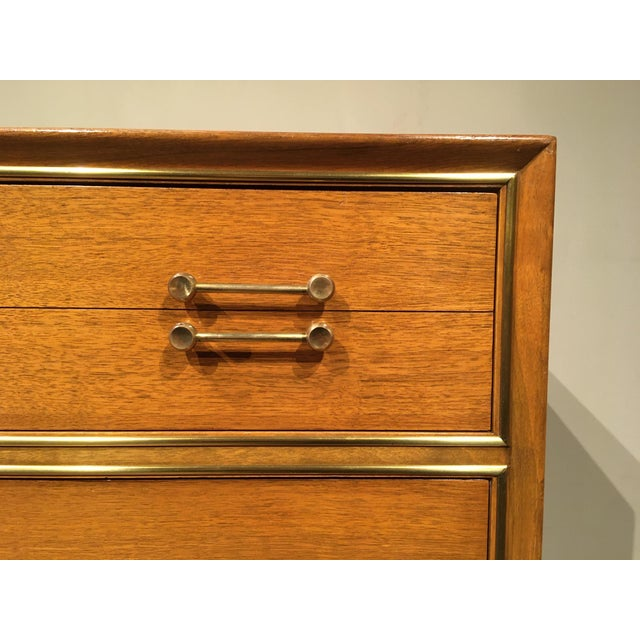 Vintage Mid-Century Tall Dresser For Sale In Chicago - Image 6 of 12