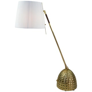 Infinitus-VI Tall Contemporary Brass Table Lamp, Flow Collection For Sale