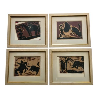 Original Picasso Set of 4 Limited Edition Lithographs - Bull Series 1962