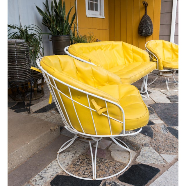 1970s Vintage Homecrest Yellow Patio Furniture Set- Set of ...