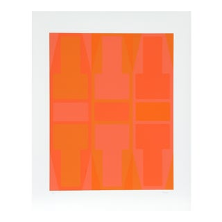 T Series (Orange) Serigraph by Arthur Boden For Sale