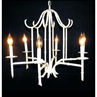 White Vintage Faux Bamboo Chandelier Preview