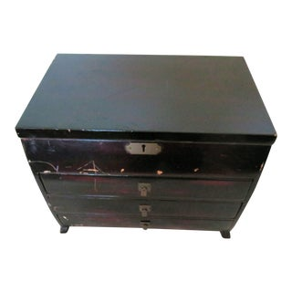 1950's Teak Wood Chinese Jewelry Box For Sale