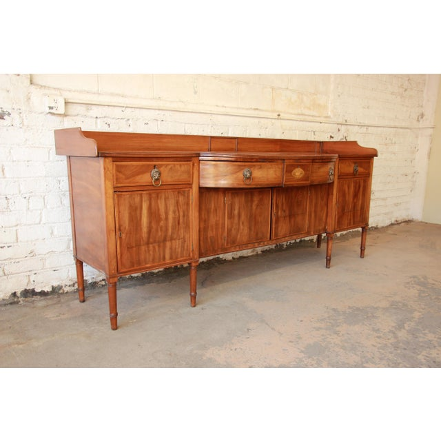 1820s English Inlaid Mahogany Sideboard For Sale - Image 4 of 11