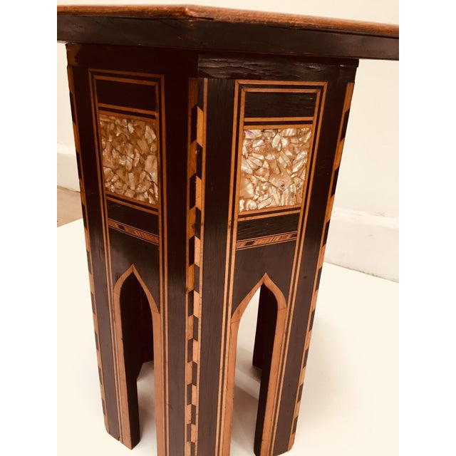 19th Century Moorish Mother-Of-Pearl Inlaid Table For Sale In Los Angeles - Image 6 of 13