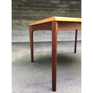 1960s Mid-Century Modern Dining Table With Extensions by Henning Kjærnulf for Vejle Møbelfabrik Preview