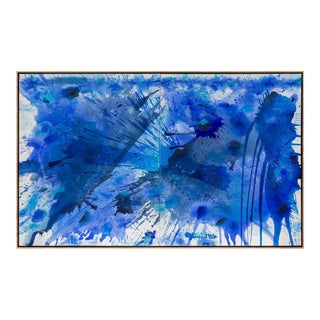 """Blue Land Splash 2015.02"" by J. Steven Manolis, Abstract, USA, 2015"