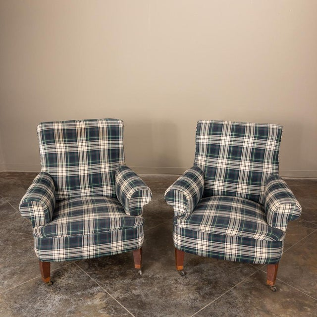 Pair Mid-Century Lounge Armchairs are amazingly comfortable and perfect for today's retro look! Circa mid-1900s Each...