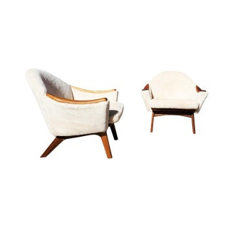 Mid-Century Modern Adrian Pearsall for Craft and Associates Lounge Chairs- A Pair For Sale