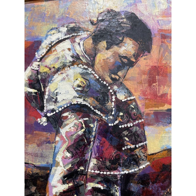 Paint Epifanio Ortega Original Matador Painting For Sale - Image 7 of 13