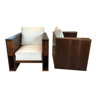 Pair of Art Deco Mahogany Club Chairs