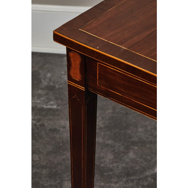 19th Century English Mahogany Inlaid Console Table For Sale In Los Angeles - Image 6 of 9