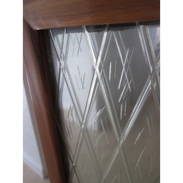 Mid Century Bamboo Mirrored Bar Cabinet - Image 7 of 11