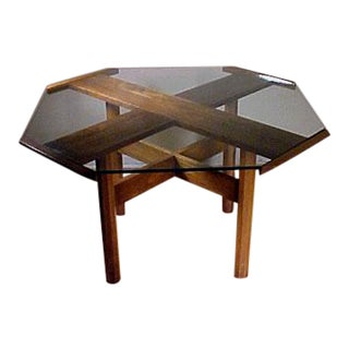 Mid Century Modern Vintage Probber Octagonal Rosewood Dining Table For Sale
