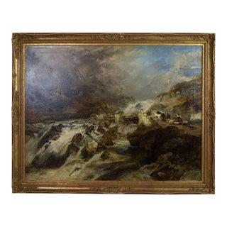 1870 Richard Sebastian Bond Mountain Landscape Genre Painting Cader Idris Wales For Sale