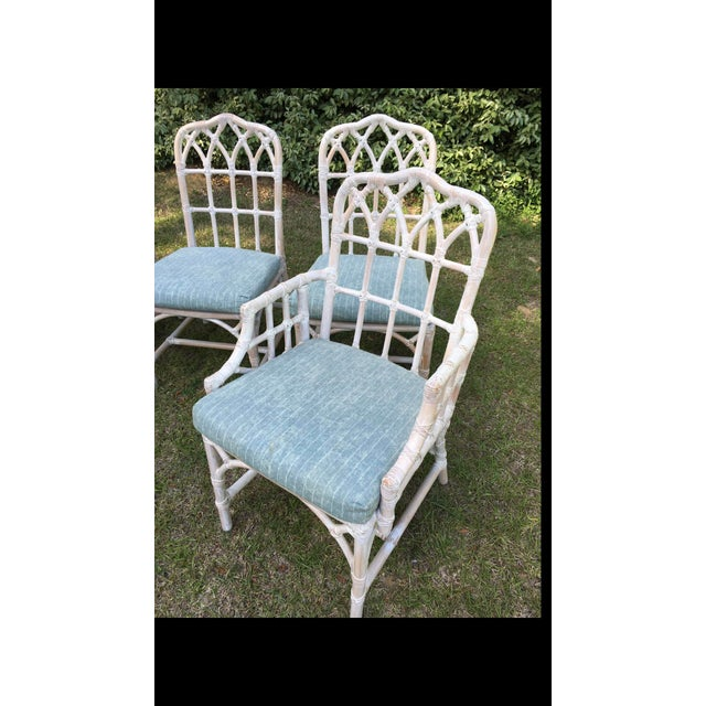 McGuire Bamboo Chinese Chippendale Chairs - Set of 6 For Sale - Image 9 of 13