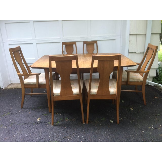 Kent Coffey Perspecta Series Dining Table & 6 Chairs Set - Image 2 of 11
