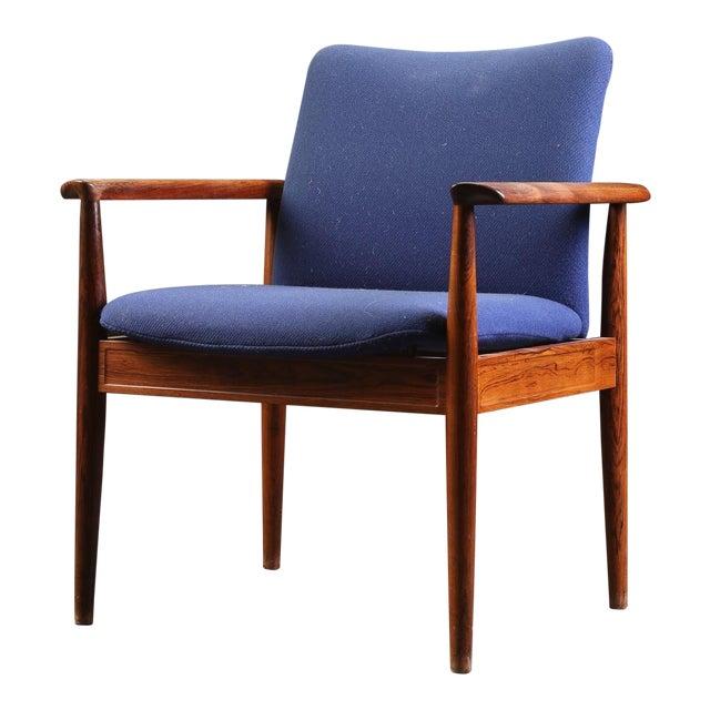 Finn Juhl Rosewood Armchair 209 Diplomat For Sale