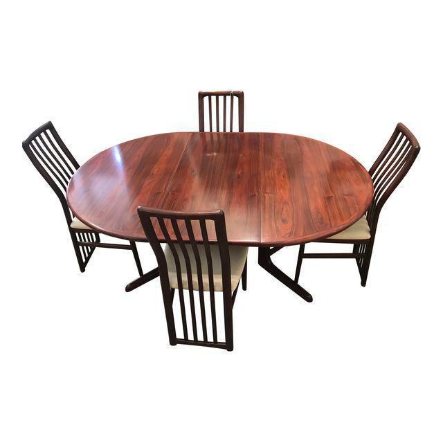Rosewood Kai Kristiansen Rosewood Dining Set For Sale - Image 7 of 7