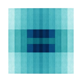 """Color Space Series 30: Ocean Blue Gradient"" Print For Sale"